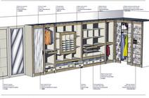 Проект гардеробной FLC 64